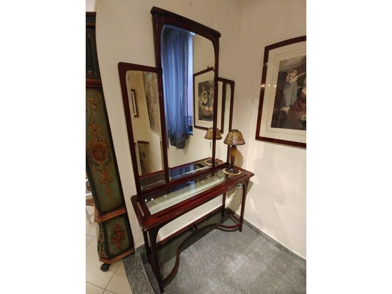 consolle liberty legno di mogano con specchio scontato del 36%