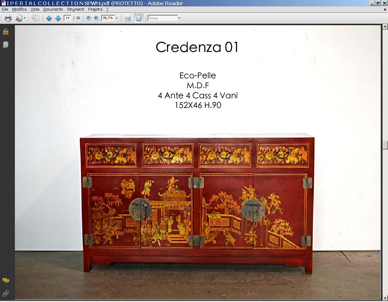 CREDENZA IMPERIAL MONGOLIA IN PELLE