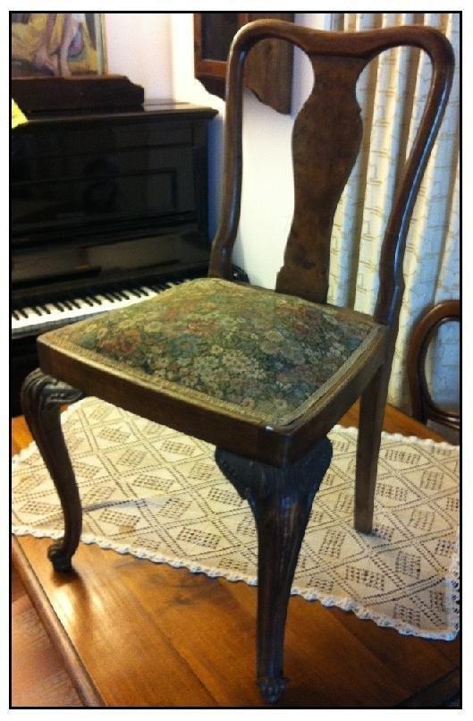 sedia antica in legno e tessut antiquariato a prezzi