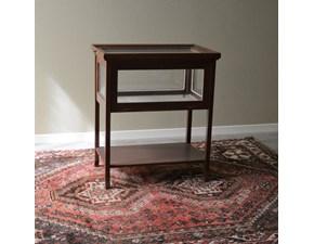 Tavolino teca inglese in legno massello. I fianchi lunghi sono incernierati. Scontato del -50%. Offerta Outlet Mobilgross