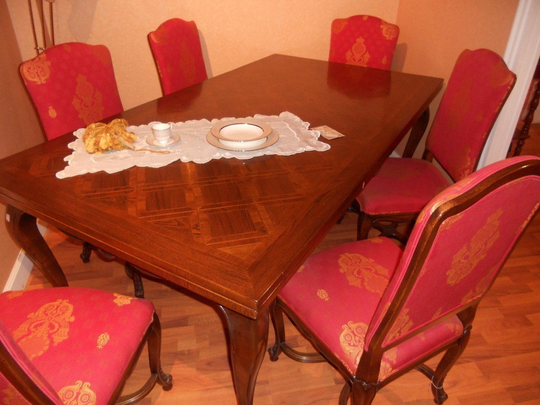 Giemme tavolo e sedie stile antiquariato tavoli in outlet for Tavolo e sedie