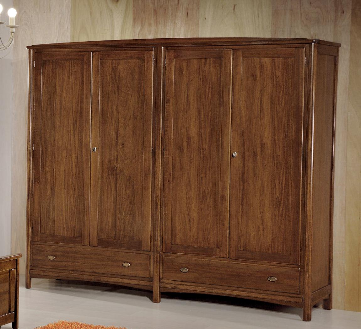 Armadio a 4 ante in legno massiccio e stile classico for Armadio a poco prezzo