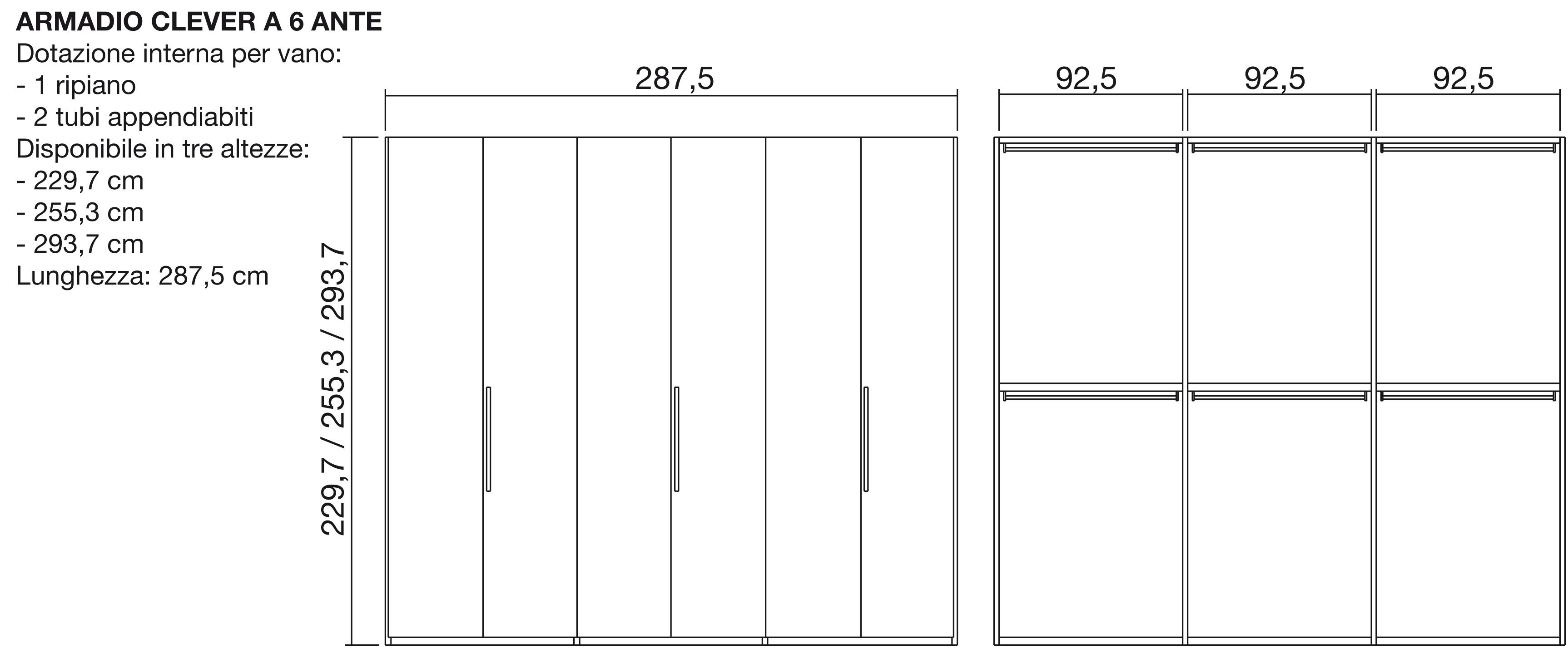 misure per una cabina armadio ~ cabina armadio componibile vouge - Misure Standard Per Una Cabina Armadio