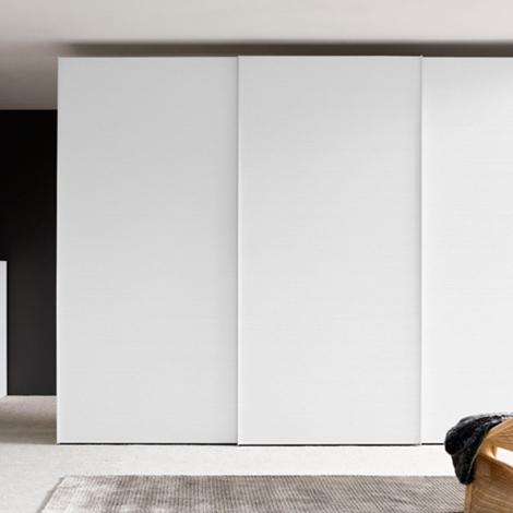 San michele armadio ante scorrevoli colore bianco opaco for Armadio ufficio bianco