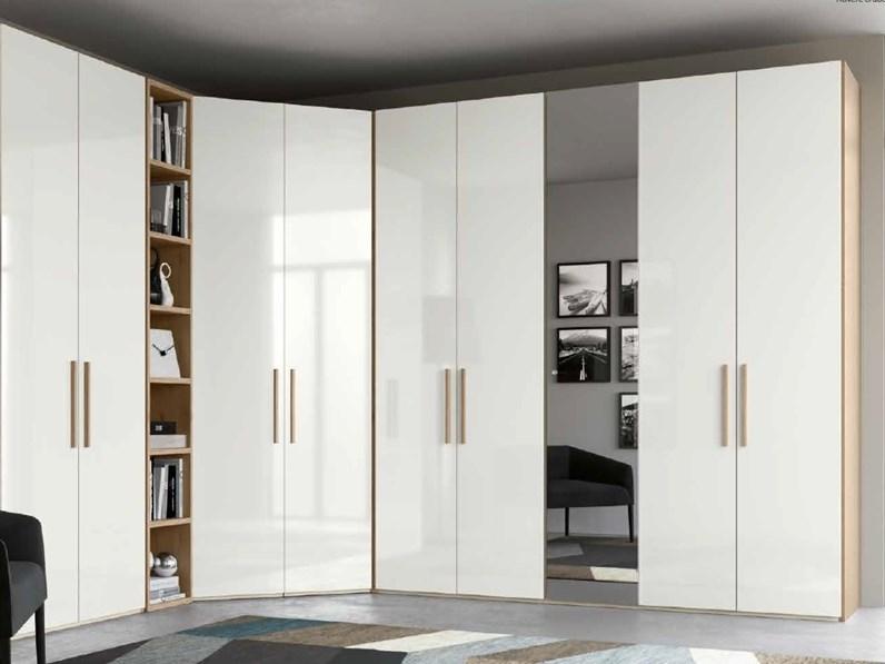 Armadio ad angolo / moderno / in vetro / in alluminio - OPERA : 015 ...