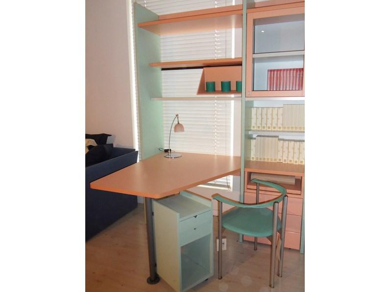 Armadio angolare, libreria e scrivania per cameretta Galli ...