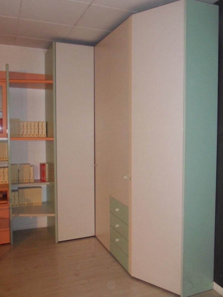Armadio angolare libreria e scrivania per cameretta galli - Armadi per cameretta ...