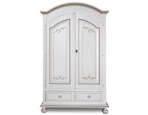 Armadio ante battenti in legno Armadio in legno con inserti decorati mottes mobili Artigianale scontato 50%