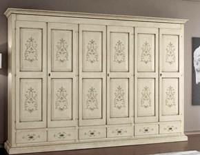 Armadio ante battenti in legno Armadio sei ante decorato Mottes selection scontato