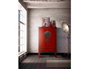 Armadio ante battenti in legno Armadio xian cina laccato in olmo rosso in offerta  Outlet etnico scontato
