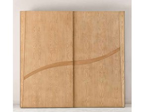 Armadio ante scorrevoli in legno Armadio in legno di frassino ad ante scorrevoli mottes mobili Artigianale scontato 50%