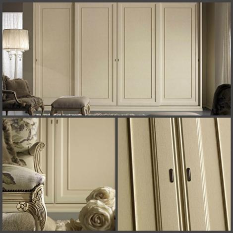 Armadio ante scorrevoli in legno pattintato beige - Armadi ...