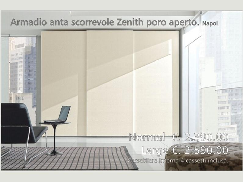 Armadio Ante Scorrevoli Altezza 190 Cm.Armadio Ante Scorrevoli In Legno Zenith Napol Scontato 32