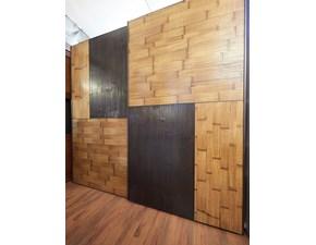 Armadio Armadio  bambu e legno mosaico di Outlet etnico con ante scorrevoli SCONTATO 24%