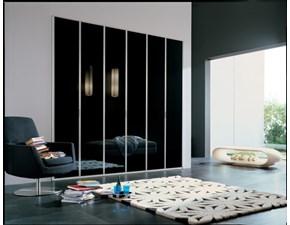 Armadio Armadio con vetri laccati lucidi colore nero scontato del 30% Giessegi con ante battenti SCONTATO 30%