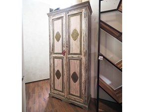 ARMADIO Armadio dipinto indiano shabby in offerta   Outlet etnico in OFFERTA OUTLET