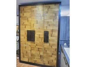 Armadio Armadio light bambu e legno di Bortoli a tre ante in Offerta Outlet