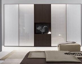 ARMADIO Armadio scorrevole con vetri ice e vano-tv con cassettiera scontato del 35% S75 OFFERTA OUTLET
