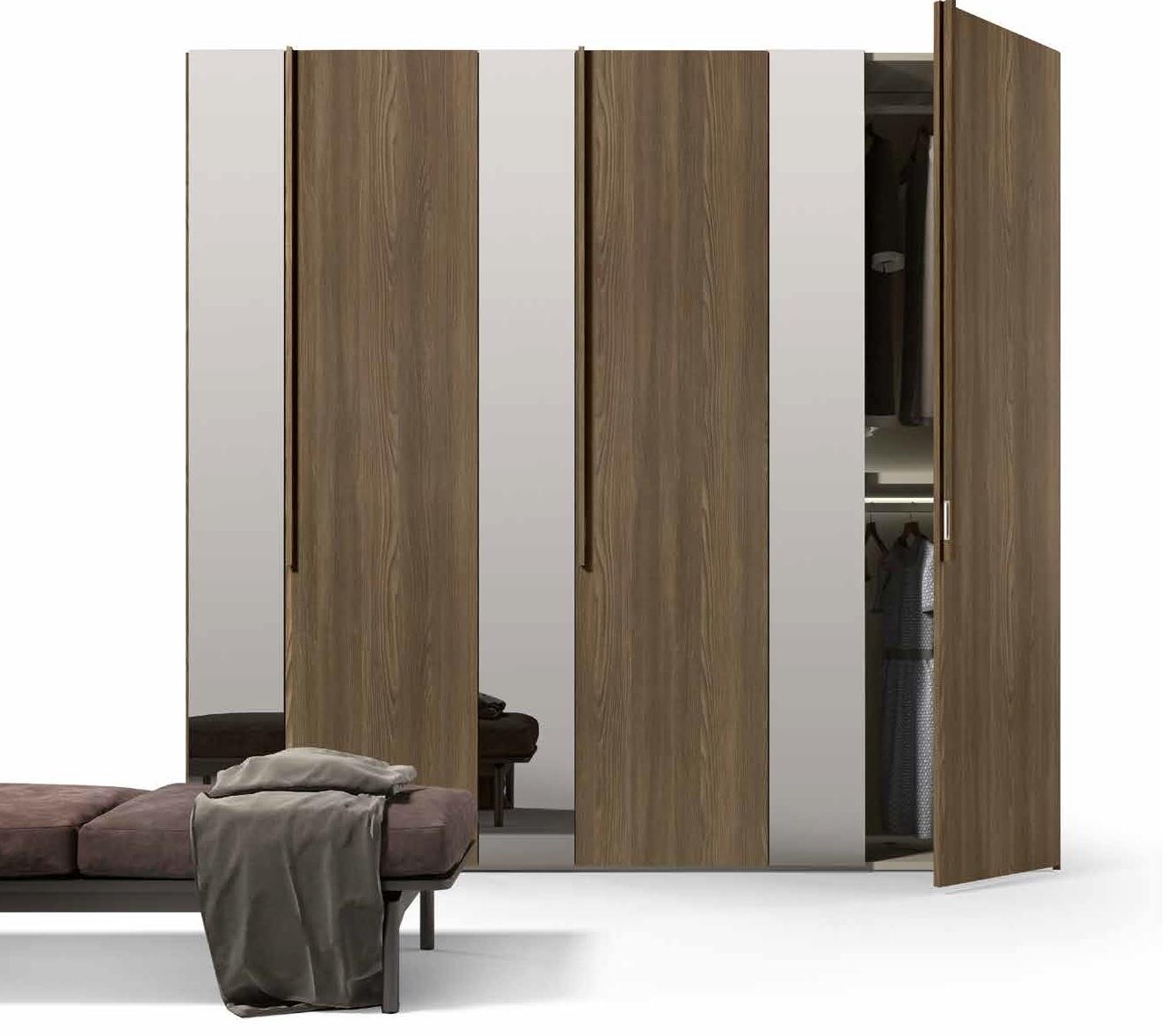 Armadio battente con anta specchio e tabacco armadi a - Ikea armadio con specchio ...