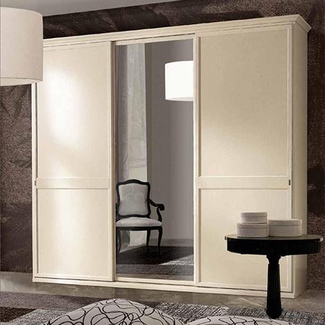 Armadio classico ante scorrevoli con specchio centrale - Armadio 2 ante scorrevoli specchio ...