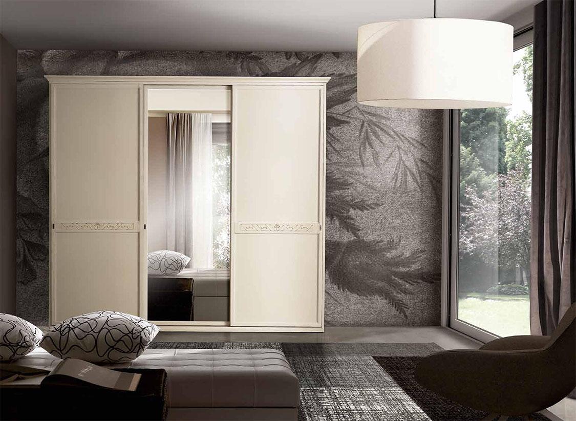 Armadio classico ante scorrevoli con specchio centrale - Porte scorrevoli specchio ...