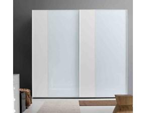 Armadio con ante scorrevolimodernoMottes mobili armadio maxi vertical 2 vetro laccato bianco Artigianale a prezzo ribassato