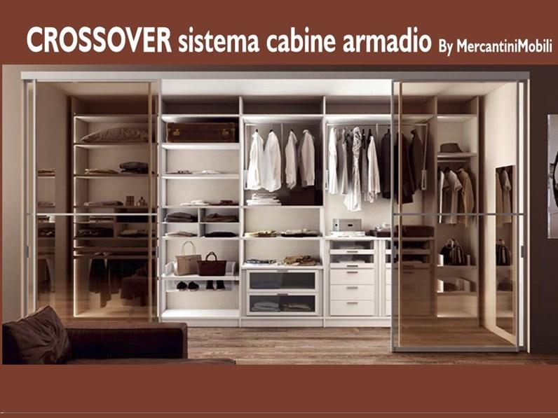 Armadio con cabina armadio moderno Crossover Mercantini a prezzo ribassato