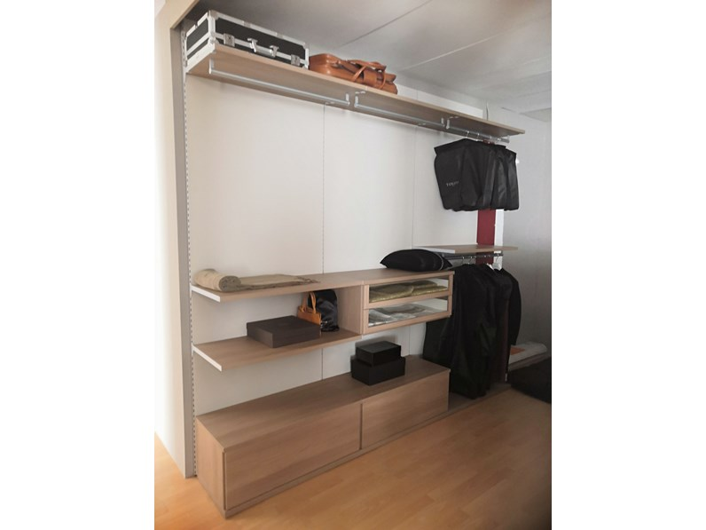 Armadio con cabina armadio moderno Wood Corazzin a prezzo scontato