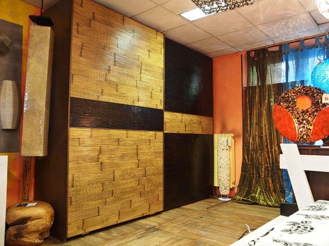 Armadio etnico moderno in crash bambu 39 armadi a prezzi - Portacravatte per armadi ...
