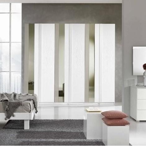 Armadio gierre in laminato bianco frassino con specchio e - Specchio verticale ...