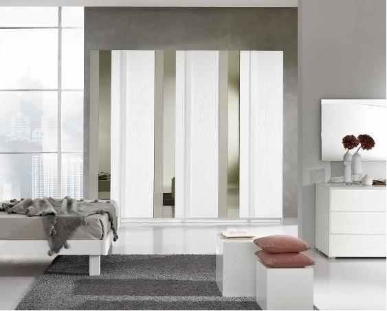 Armadio gierre in laminato bianco frassino con specchio e - Ikea armadio con specchio ...
