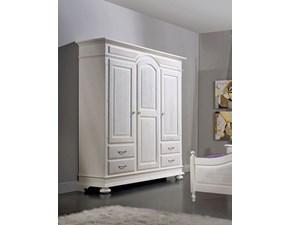 Armadio Mirandola nicola e cristano modello Armadio classico bianco in legno A PREZZO SCONTATO
