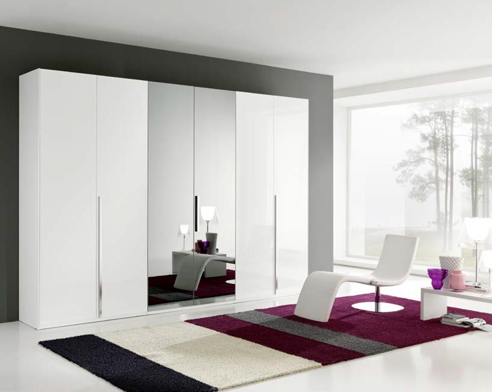 Gierre mobili armadio link a 6 ante battenti con specchi for Armadio ufficio bianco
