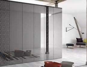 Armadio moderno a specchio serigrafato L.280cm di Orme PREZZI OUTLET