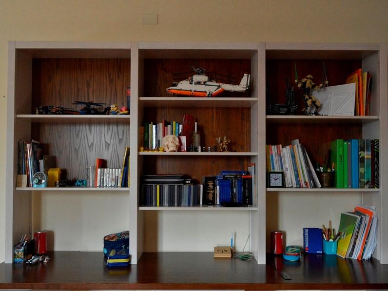 Armadio moderno Art.800-libreria e scrivania Mirandola con un ribasso  imperdibile