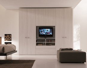 Armadio moderno System con tv rack orientabile Dielle PREZZI OUTLET
