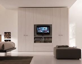 Armadio moderno System con tv rack orientabile Dielle PREZZI OUTLET