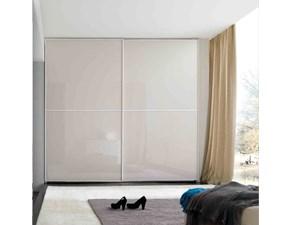 Armadio Mottes mobili armadio maxi vetro visual laccato grigio Artigianale con ante scorrevoli SCONTATO 40%