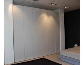 ARMADIO Novamobili design anta Liscia in finitura laminato materico color grigio nuvola Offerta Outlet Mobilgross .SCONTATO DEL -50%
