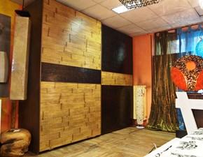 Armadio Nuovi Mondi Cucine Armadio convenienza in crash bambu' miele/noce scuro Moderno