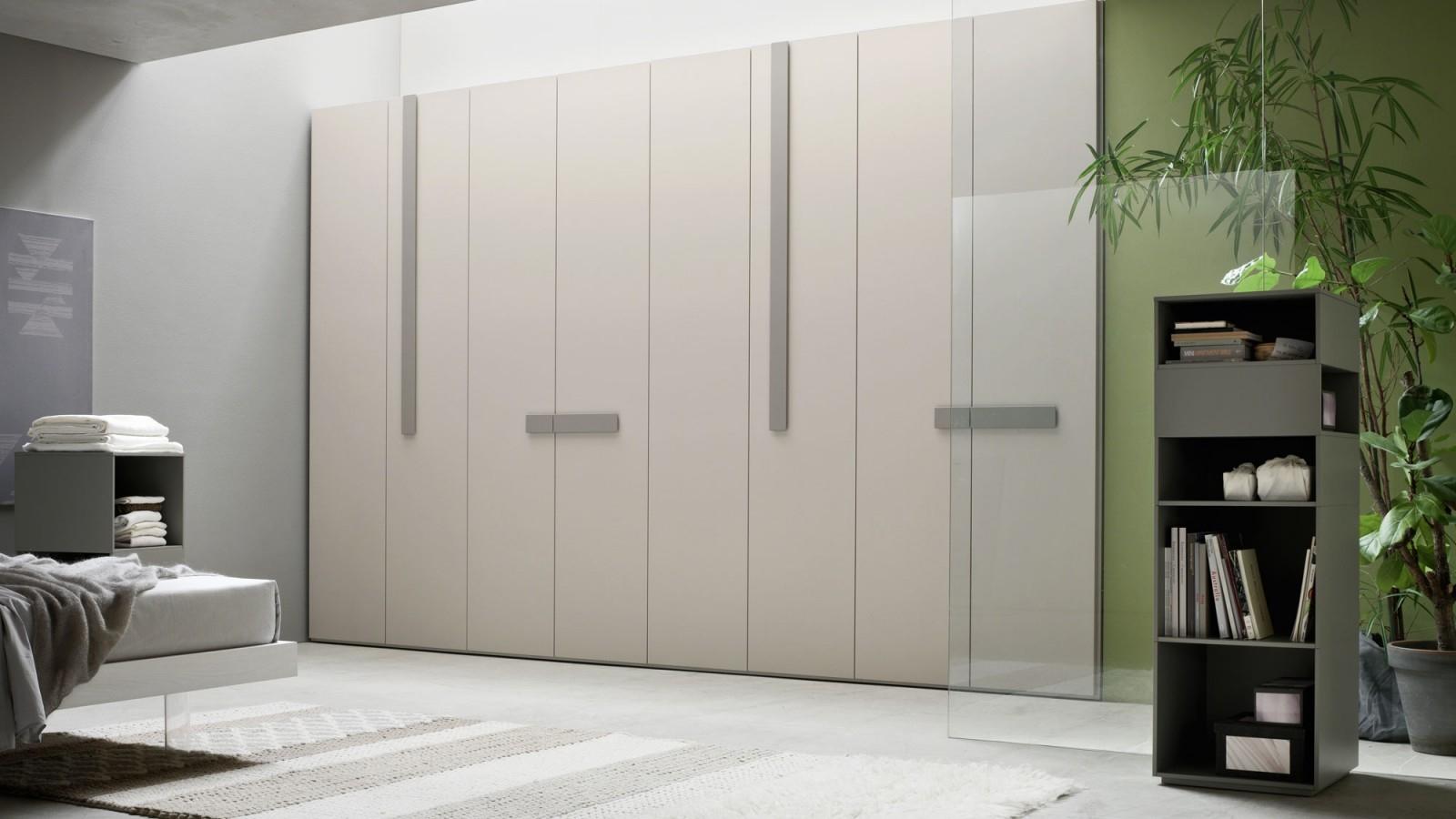 armadio orme armadio lungo 4.025 battente design laccato opaco ... - Costruito Nel Design Armadio