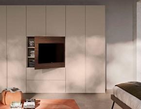 Armadio Orme modello Orme light armadio battente anta liscia e vano porta tv orientabile A PREZZO SCONTATO