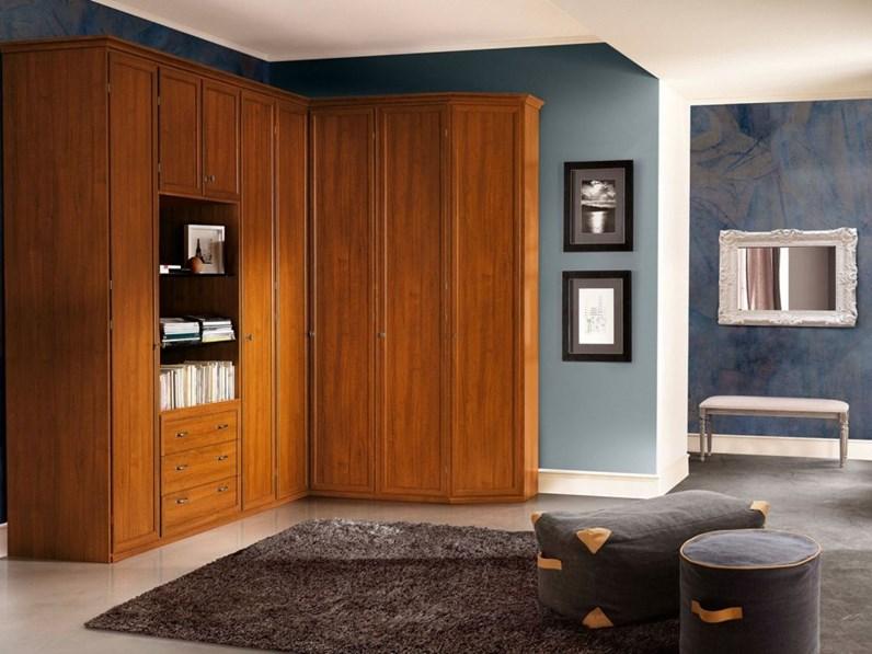 Armadio san michele dea noce classico in legno ante battenti - San michele mobili ...