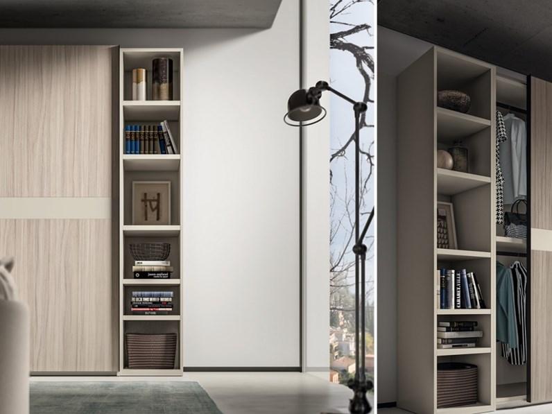 Armadio scorrevole con librerie terminali Zg mobili OFFERTA OUTLET