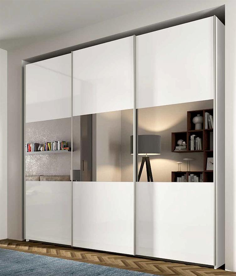 Armadi con specchi armadio moderno in legno con porta - Porta specchio scorrevole ...
