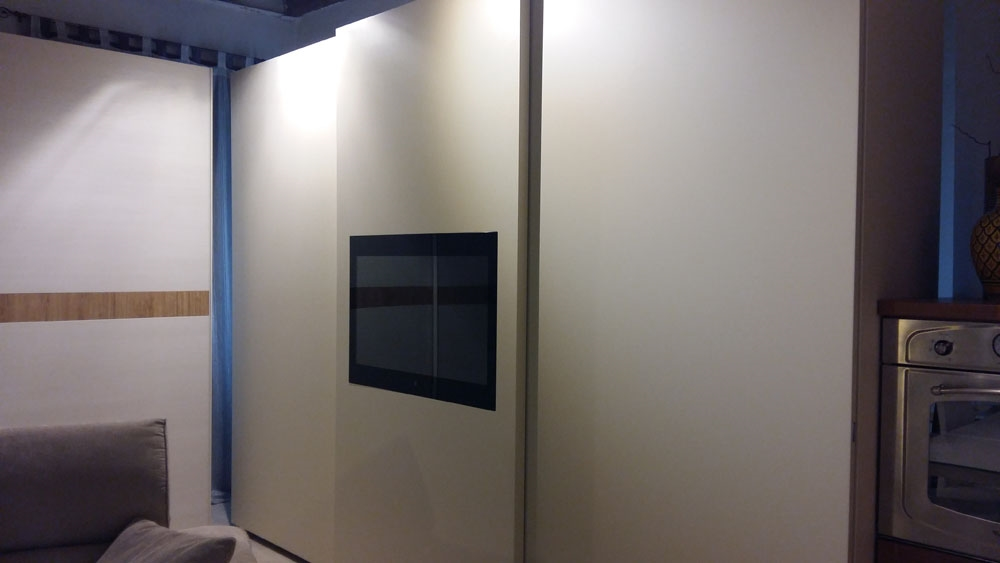 Armadio Con Tv Incorporata Lacquered Wardrobe Alfa Portale Maxi Alfa Collection By Novamobili