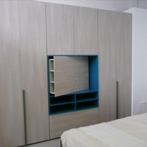 Armadio style con vano tv e cassettiere di dielle modus - Armadio con vano porta tv ...