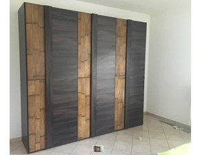 armadio zen nuovimondi in in legnoe carsh bambu  essenza wenghe crash bambu in offerta nuovimondi  6 ante