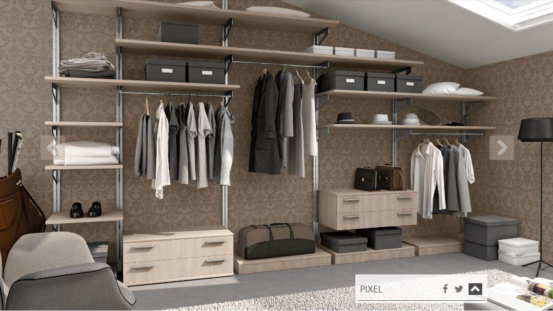 Cabina armadio colombini modello 558 linea golf armadi a for Arredo cabina armadio