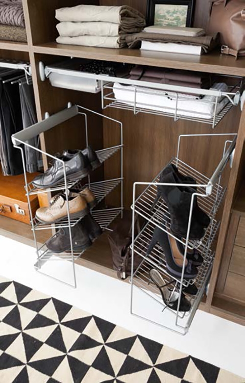 Cabina armadio a spalla moderno in laminato materico della for Planimetrie della cabina del fienile